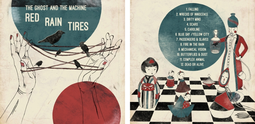 LP Front and Back - The Ghost and the Machine